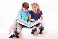 Reading together Stock Images