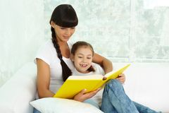 Reading together Stock Photography