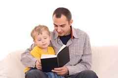 Reading together royalty free stock images