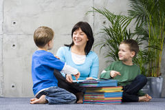 Reading together Royalty Free Stock Image