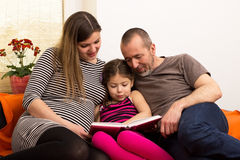 Reading together Stock Image