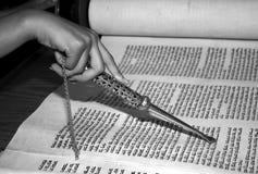 Reading the Torah. Torah Reading at a Bat Mitzvah stock images
