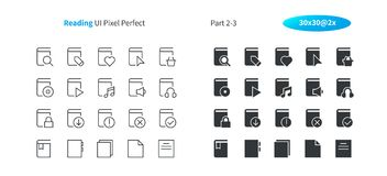 Reading UI Pixel Perfect Well-crafted Vector Thin Line And Solid Icons 30 2x Grid for Web Graphics and Apps. Simple Minimal Pictogram Part 2-3 Royalty Free Stock Images