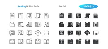 Reading UI Pixel Perfect Well-crafted Vector Thin Line And Solid Icons 30 2x Grid for Web Graphics and Apps. Simple Minimal Pictogram Part 3-3 Stock Photography