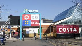 Motorway services on the M4 royalty free stock photos