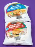 Halloumi Cheese Slices stock image