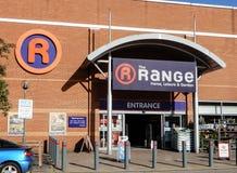 The Range store front. Reading, United Kingdom - June 21 2018: The front of the Range store at The Station Shopping Park royalty free stock photo