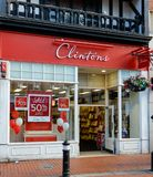 Clintons Store Front. Reading, United Kingdom - June 22 2018: The store frontage of Clintons Card Shop in Broad St Stock Images