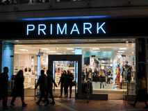 Primark at Night stock images