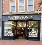 Waterstones book shop. Reading, United Kingdom - May 09 2018:   The frontage of Waterstones Book shop in Broad street Stock Photos