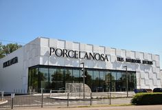 Porcelanosa store front royalty free stock images