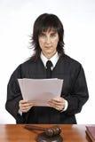 Reading the verdict Stock Photography