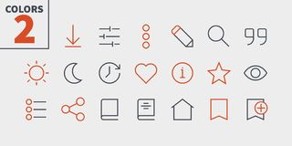 Reading View Outlined Pixel Perfect Well-crafted Vector Thin Line Icons 48x48 Ready for 24x24 Grid for Web Graphics and. Apps with Editable Stroke. Simple Royalty Free Stock Images