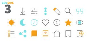 Reading View Outlined Pixel Perfect Well-crafted Vector Thin Line Icons 48x48 Ready for 24x24 Grid for Web Graphics and. Apps with Editable Stroke. Simple Royalty Free Stock Photos