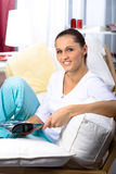 Reading woman Stock Images
