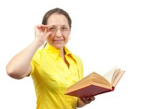 Reading woman Royalty Free Stock Photography