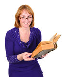 Reading woman. Stock Photo