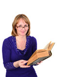 Reading woman. Royalty Free Stock Photos