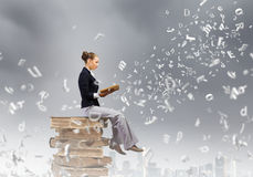Reading woman Stock Photo