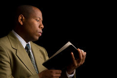 Reading the Word of God Stock Photo
