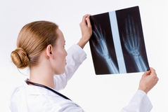 Reading the X-Ray Royalty Free Stock Photo