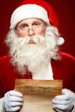 Reading xmas letter Stock Photo