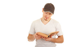 Reading young man Royalty Free Stock Photography