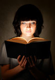 Reading young woman Stock Image