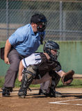 Ready. Baseball action with Mt. Shasta vs, Central Valley in the City of Shasta Lake, California Stock Photography