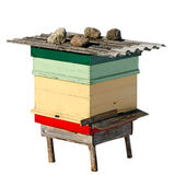 Beehive on wite surface. Stock Photography