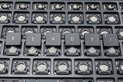 Ready black PC buttons. Old keyboard. stock photos