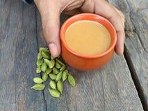 Ready for cardamom tea. Ready for grab cardamom tea stock photos