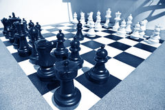 Ready for chess battle Stock Photography
