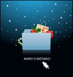 ready for christmas- mac OS X folder Royalty Free Stock Image