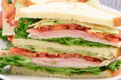 Ready  club sandwich. Fast great food  colorful and delicious,perfect for picnics and quick bites Stock Images