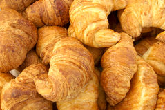 Ready for coffee. Fresh croissants royalty free stock image