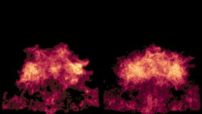The pink fire flares up and fades away, with alpha mask royalty free illustration