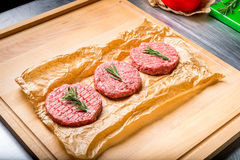 Ready for cooking meat royalty free stock photo