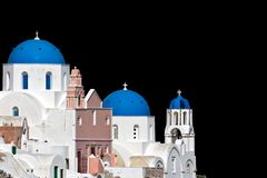Ready cropped traditional Greek church Stock Images