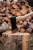 Ready for cutting timber. Royalty Free Stock Photos