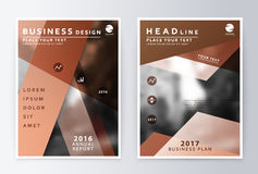 Ready design annual report business finance Stock Images