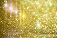 Ready design with star light and golden sparkles Royalty Free Stock Photography