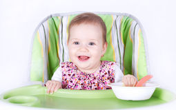 Ready for dinner baby Stock Photography
