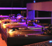 Ready for DJ's. DJ's Music Equipment royalty free stock images