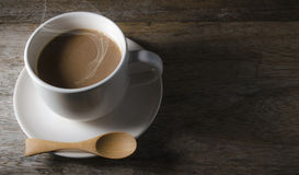 Ready drink coffee in white cup Stock Photo