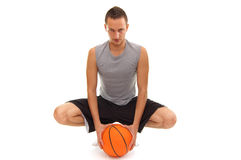 Ready for the game. Basketball player with ball, isolated on white, simmilar images in my portfolio Stock Photos