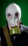 Ready for gas attack Royalty Free Stock Photography