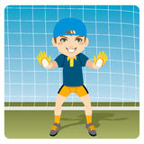 Ready Goalkeeper Royalty Free Stock Photography
