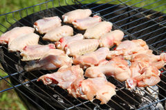 Ready grill barbecue chicken Royalty Free Stock Photos