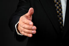 Ready for Handshake. Hand of man ready for handshake royalty free stock photo